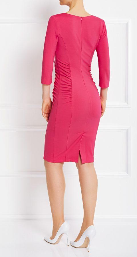 AMCO Fashion by Annett Möller | AMCO Alameda Dress | Spring Blossom Pink | Pink | Stretch Kleid mit seitlichen Falten