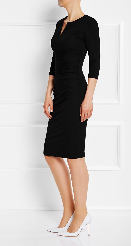 AMCO Fashion by Annett Möller | Classic Black | mit auffälligem Reissverschluss | Schwarz | elegantes Strechkleid