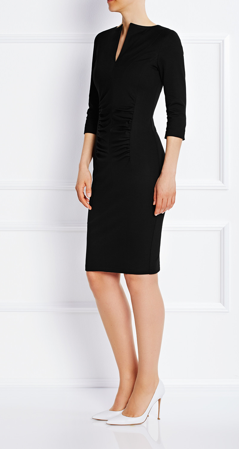 AMCO Fashion by Annett Möller | AMCO Magnolia Dress | Classic Black | Schwarz | Schlankes Strech-Kleid