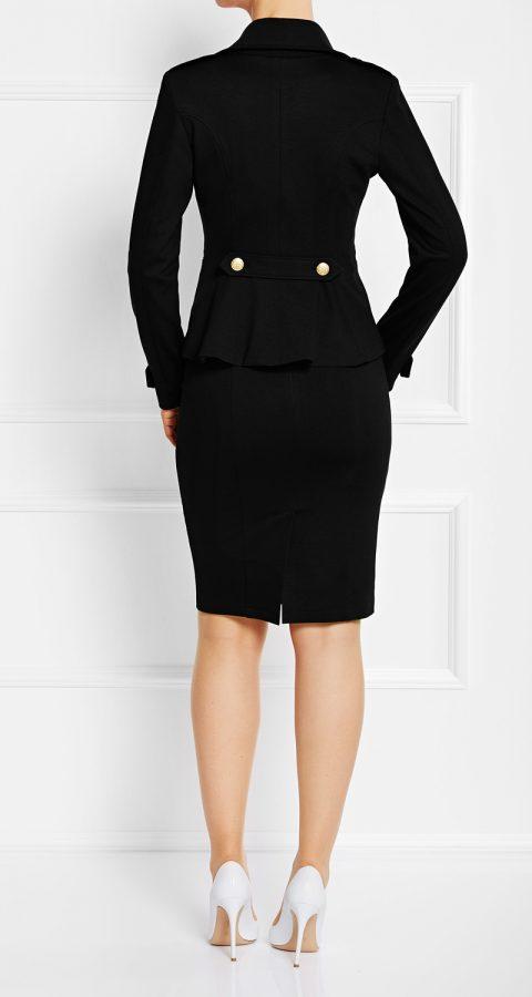 AMCO Fashion by Annett Möller | AMCO Albany Jacket | Classic Black | Schwarz | Sportlicher Strech-Blazer im Military Look | mit goldenen Knöpfen