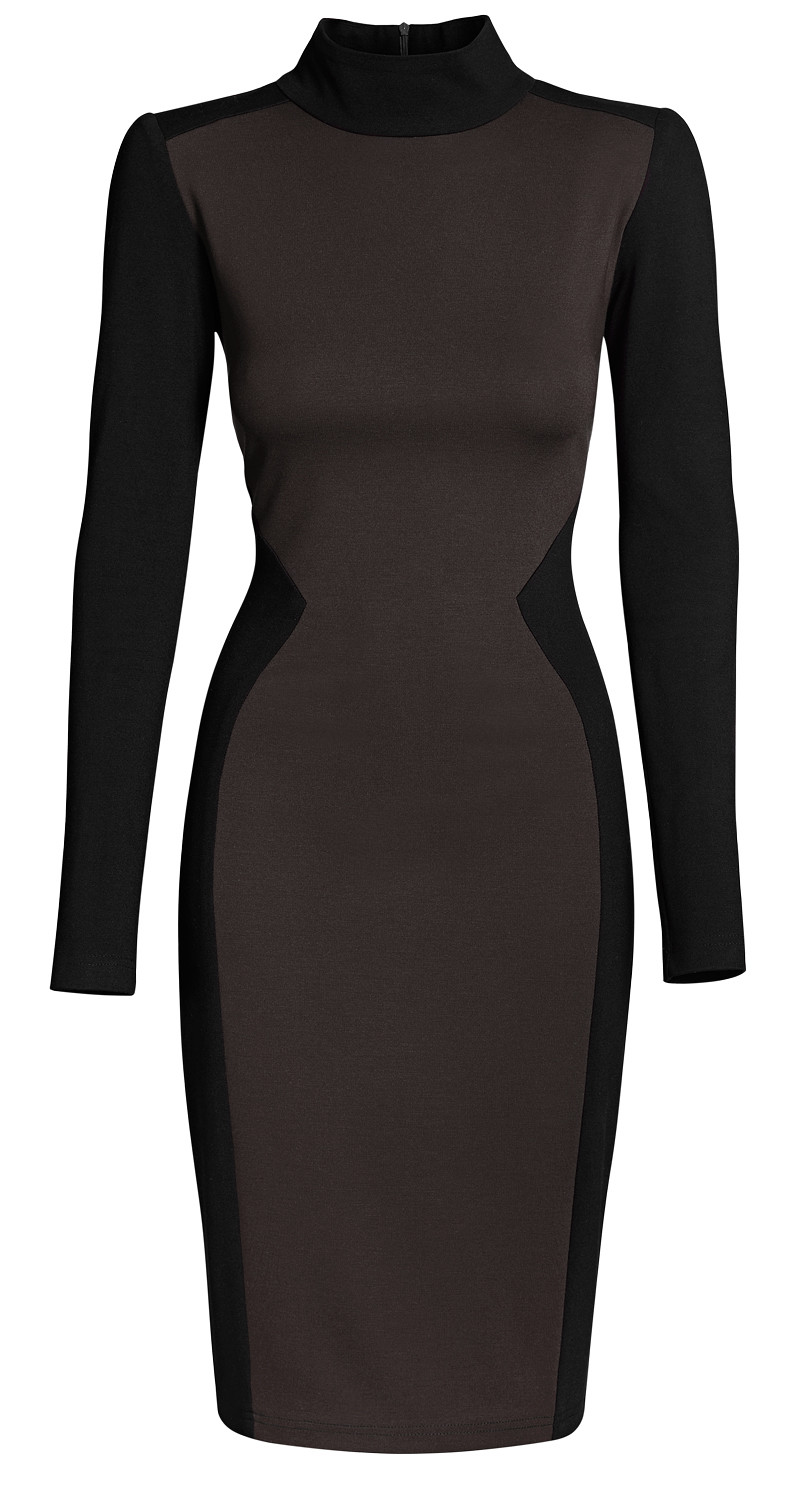 AMCO Fashion by Annett Möller | AMCO Madison Dress | Taupe and Classic Black | Taube und Schwarz | Strech-Kleid