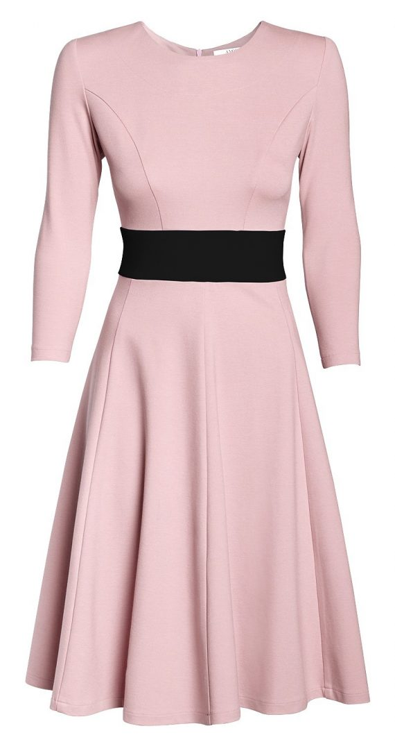 AMCO Fashion by Annett Möller | AMCO Carrie Dress | Rose and Classic Black | Rosa | Stretchkleid mit Glockenrock