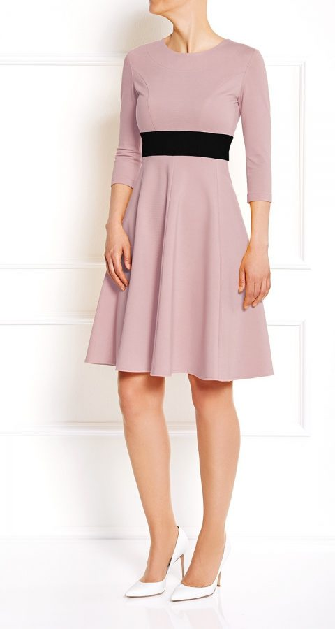 AMCO Fashion by Annett Möller   AMCO Carrie Dress   Rose and Classic Black   Rosa   Stretchkleid mit Glockenrock