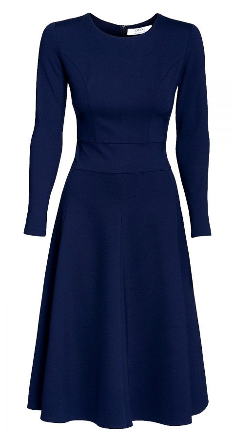 AMCO Fashion by Annett Möller | AMCO Carrie Dress | Night Blue | Dunkelblau | Stretchkleid mit Glockenrock