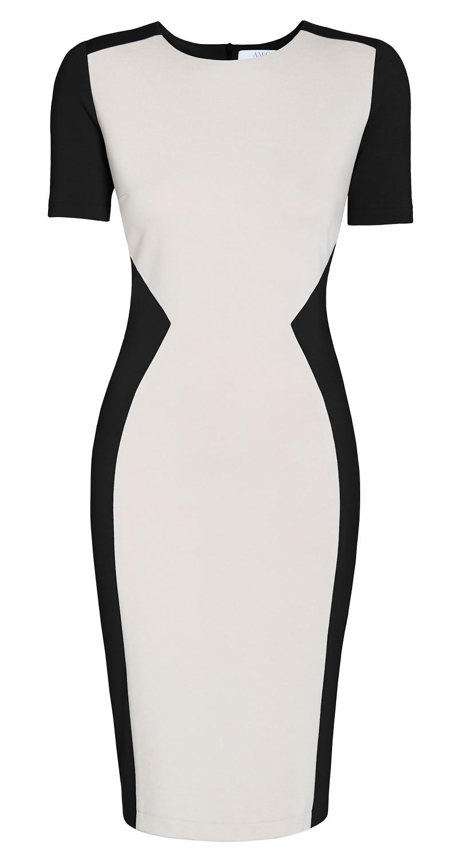 AMCO Fashion by Annett Möller | AMCO Meliya Dress | Beach Sand and Classic Black | Creme und Schwarz | Sanduhr-Silhouette