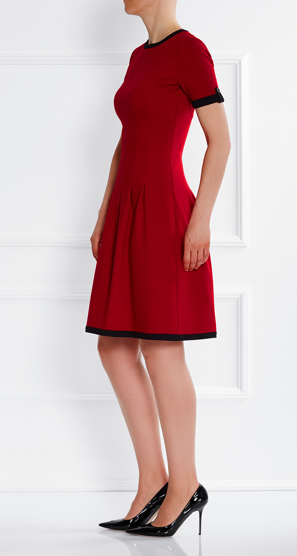 AMCO Fashion by Annett Möller | AMCO Celilia Dress | Flamenco Red | Rot | Stretch Kleid mit verspielten Falten