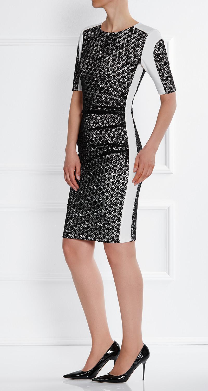 AMCO Fashion by Annett Möller | AMCO Margaux Dress | Black Lace | Schwarz | Stretch Kleid mit aufgesetzter Spitze | Stretch Spitze