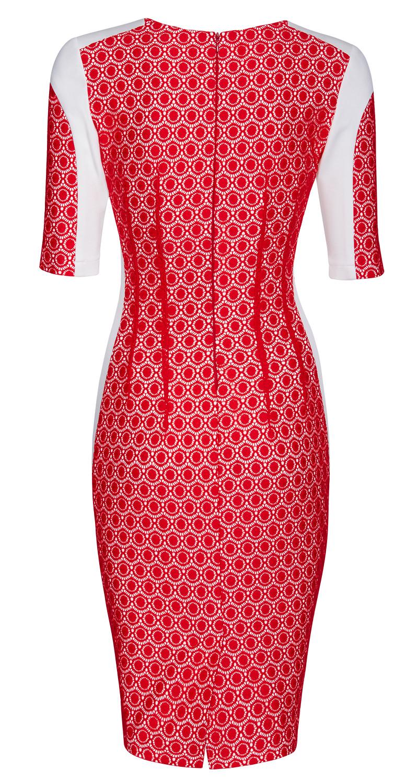 AMCO Fashion by Annett Möller | AMCO Margaux Dress | Red Lace | Rot | Stretch Kleid mit aufgesetzter Spitze | Stretch Spitze