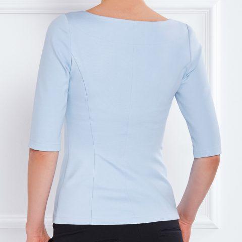 AMCO Fashion by Annett Möller | AMCO BELLFLOWER SHIRT | LIGHT BLUE | Hellblau | hochwertiges Jersey Shirt | Rundhalsausschnitt