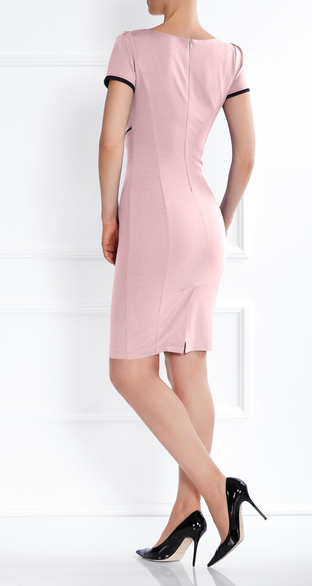 AMCO Fashion by Annett Möller | AMCO DAHLIA DRESS | ROSE | Rosa | Stretch Kleid mit markanter Linienführung