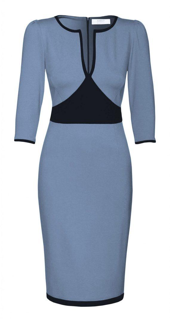 AMCO Fashion by Annett Möller | AMCO Aurelie Dress | Powder Blue | Taubenblau | sportliches Strechtkleid