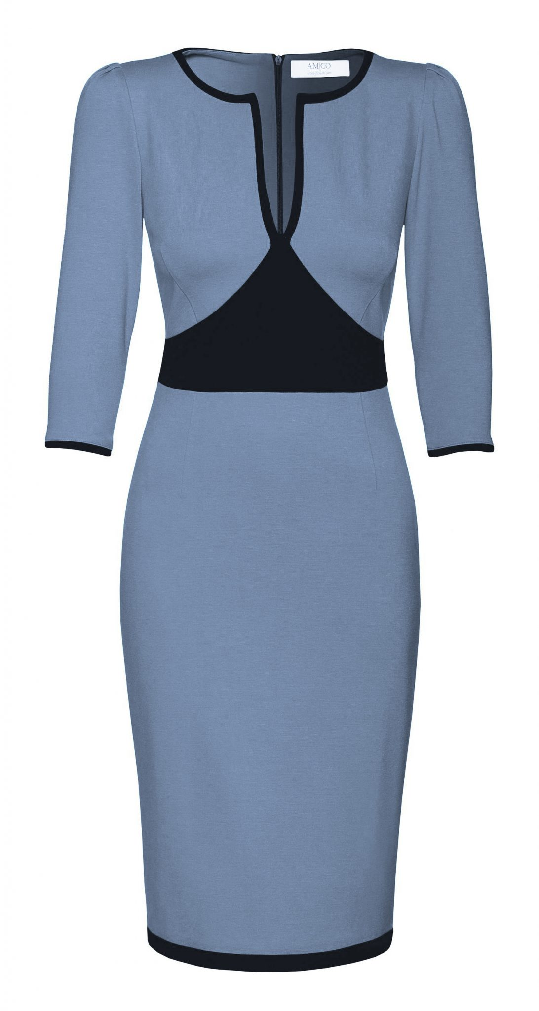 AMCO Fashion by Annett Möller | AMCO Aurelie Dress | Powder Blue | Taubenblau | sportliches Strechtkleid