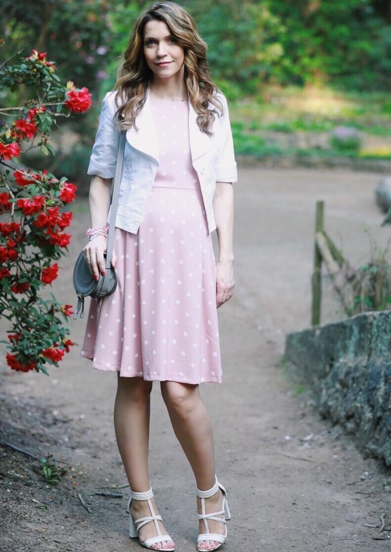 Rosa Pünktchen Kleid