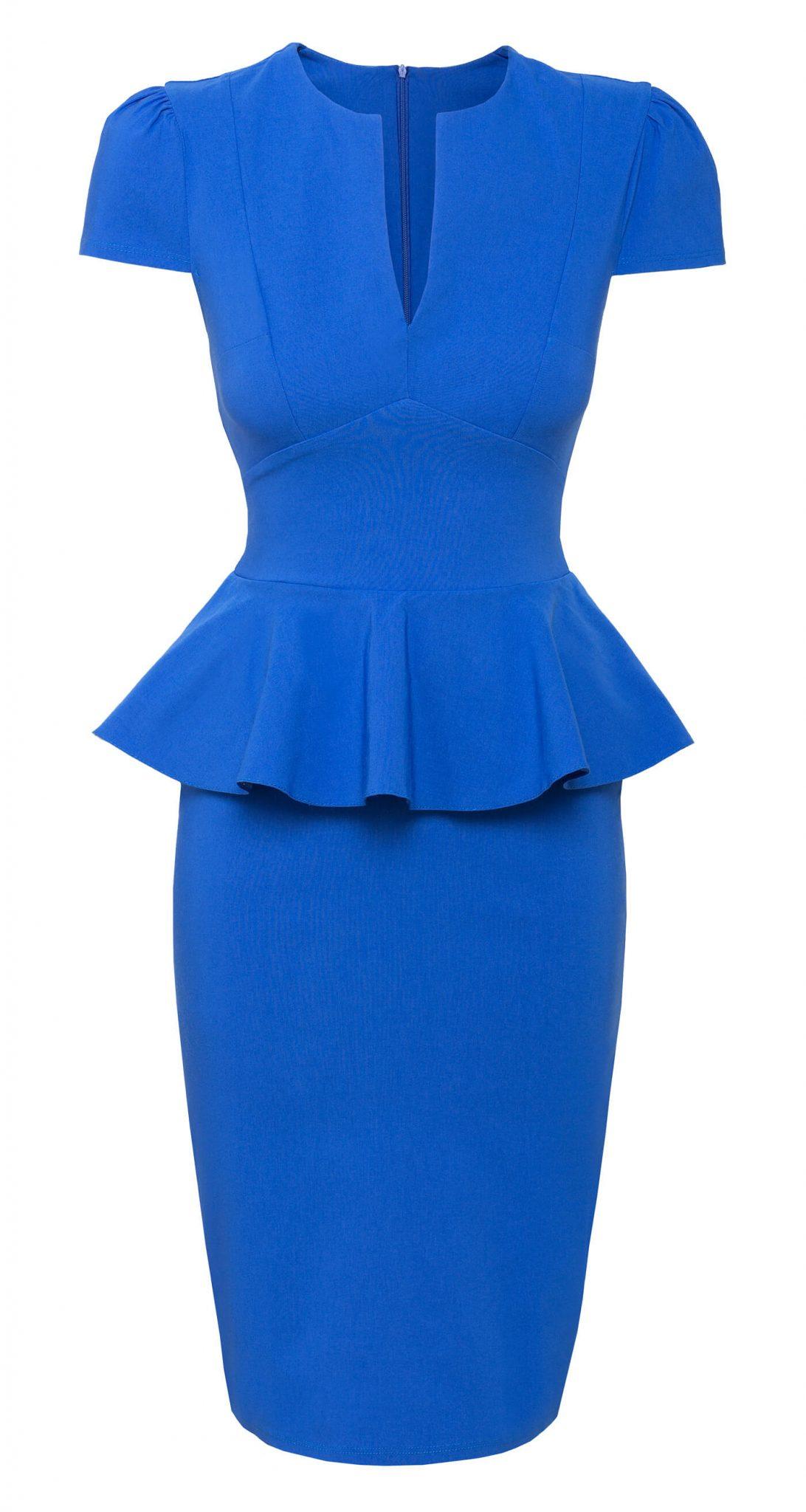 GoddessKleid City City Mit Schößchen GoddessKleid Royalblau Mit Schößchen qzjLSUMpGV