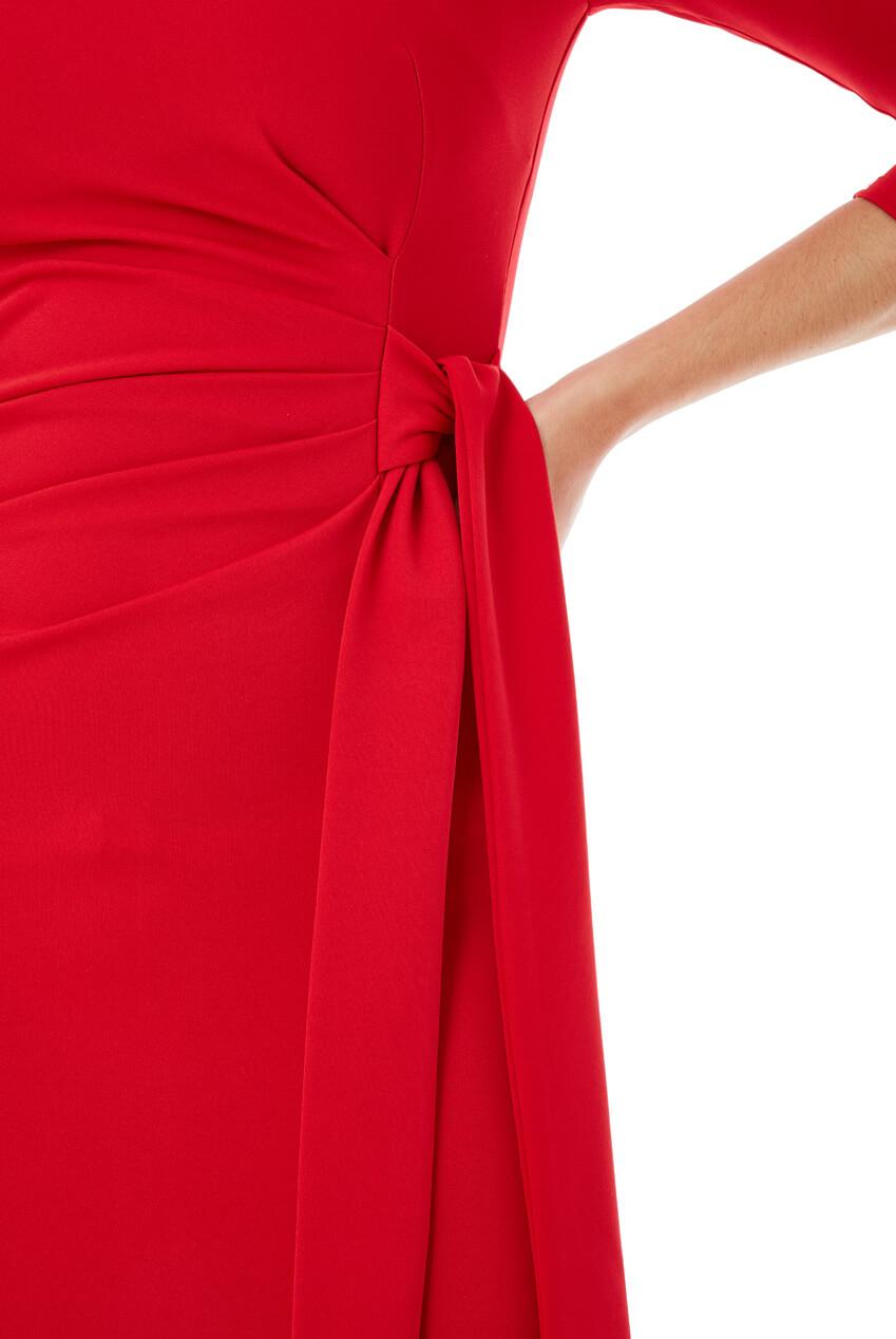 AMCO Fashion by Annett Möller | City Goddess | Kleid mit seitlichem Band | Rot | Kleid mit seitlichem Band zum Binden